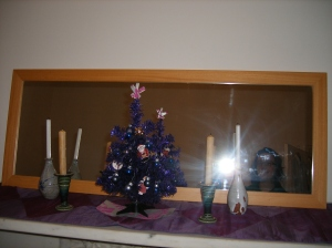 Our mini, purple tree.