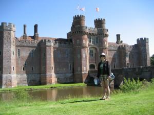 Outside Herstmonceux Castle