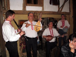 Traditional band at 'Under The Linden Trees' restaurant.