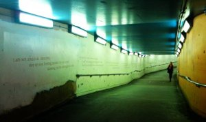 the underpass before