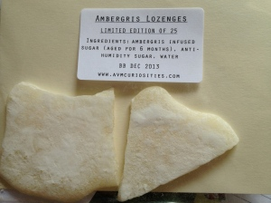 Ambergris-infused Lozenges that I'm planning to share and am very curious to taste.