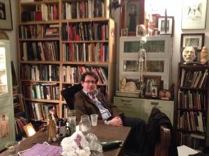 Dr. Richard Barnett in the Morbid Anatomy Library. Photo courtesy of Caitlin Wylie.