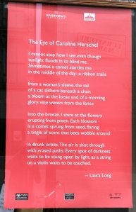 Poem about Caroline Herschel that I hadn't seen before - thanks to Emily Smith!