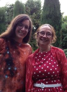 With my Cinnamon Press publisher, Jan.