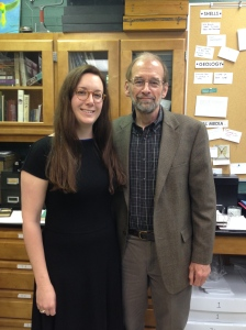 With Dr Shedd, our favourite Biology Prof!